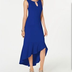 Thalia Sodi Flounce-Hem Maxi Dress Blue size Med